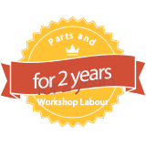 Parts and Workshop labour for 2 years