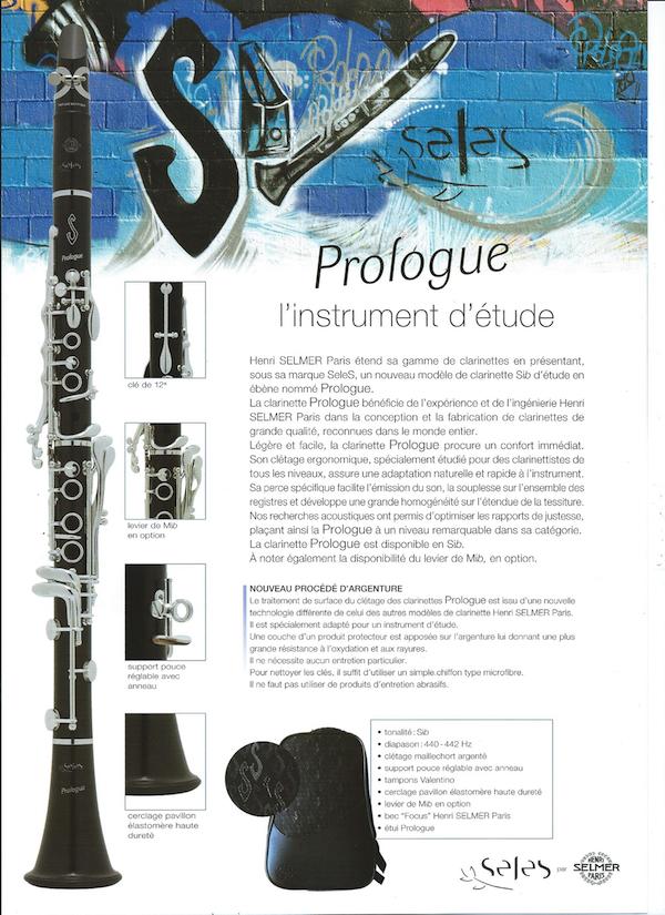 Clarinette Prologue SeleS Selmer